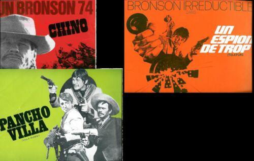 Charles BRONSON 3 French Pressbooks  PANCHO VILLA + TELEPHON + CHINO