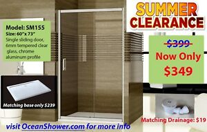 Raise Your Home's Value w Frameless Tempered Glass shower Doors