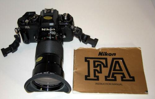 Nikon FA 35mm Camera w/ Vivitar Series 1 Macro Zoom Lens with manuals, Preowned