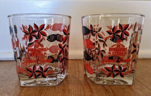 Sippin Santa Tiki Double Rocks Glass set of 2