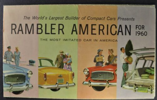 1960 Rambler American Brochure Folder Club Sedan Wagon Nash AMC Original 60