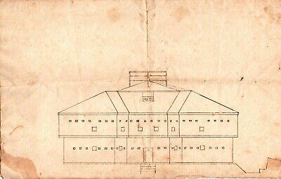 Original 18th Century Drawing, Captain John Abbott, 5 Point Garrison Fort