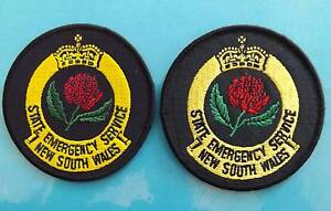 SES   NSW STATE  EMERGENCY SERVICE NSW POLICE PATCHES Nowra Nowra-Bomaderry Preview