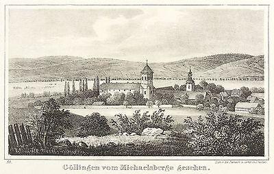 GÖLLINGEN (KYFFHÄUSERLAND) - GESAMTANSICHT - Sydow - Lithografie 1842