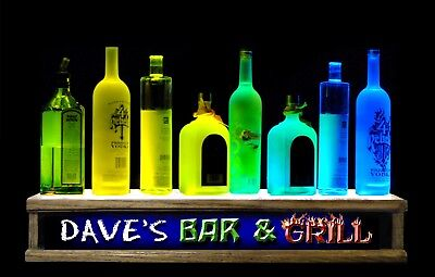 2color Led Lighted Liquor Bottle Display Personalized Bar And Grill Bar Sign