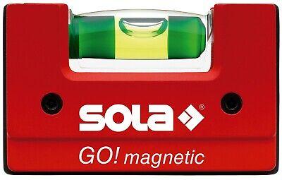 SOLA GOMAGNETIC - Nivel de burbuja compacto GO! Magnetic