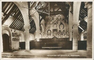 Interior of castle Oakham valentines real photo
