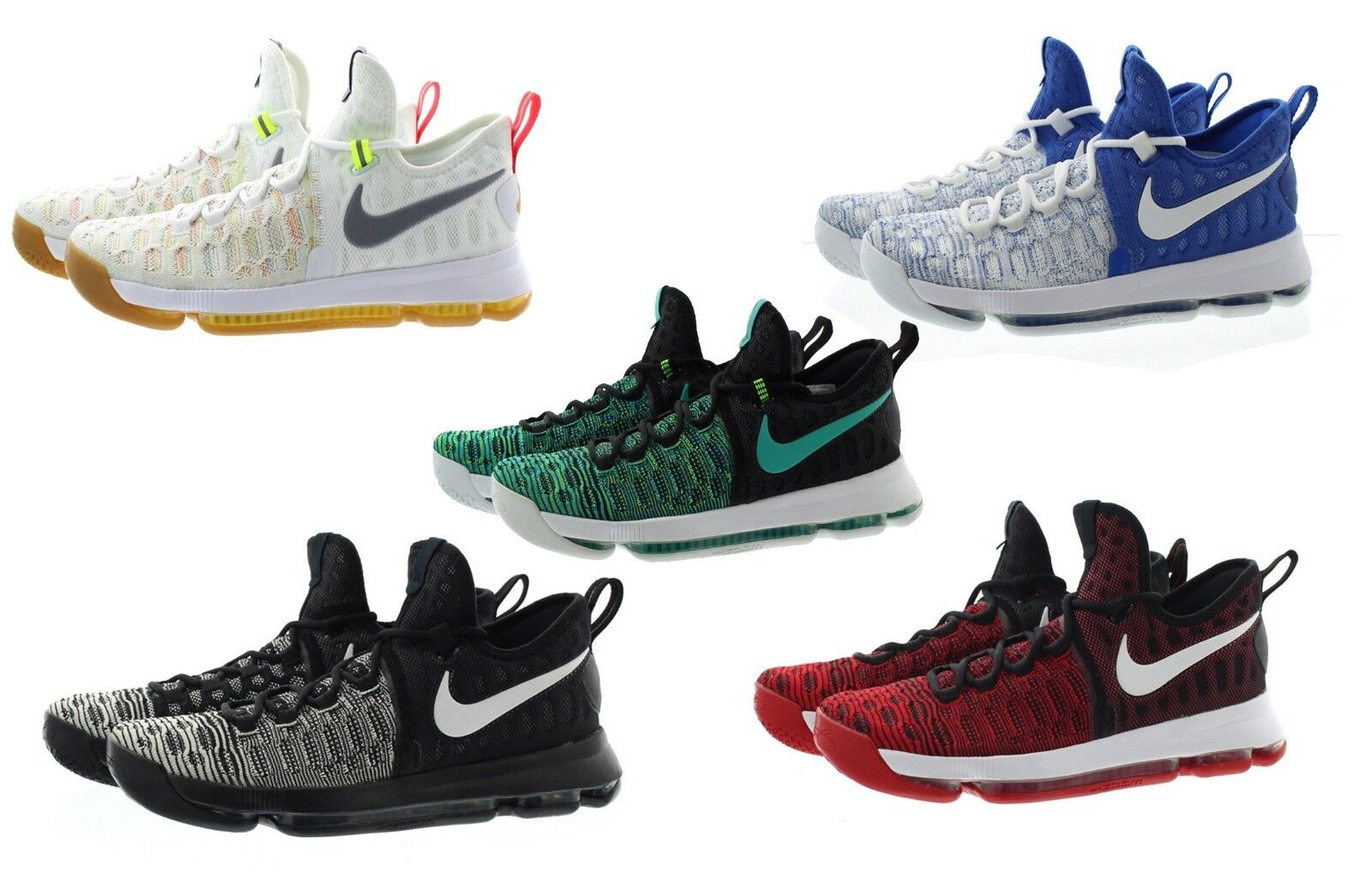 size 40 cb9a8 cc391 Nike 843392 Mens Zoom KD Kevin Durant 9 Low Top Basketball Shoes Sneakers