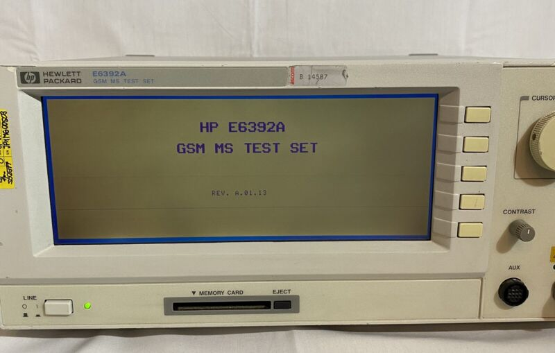 HP Agilent E6392A GSM Mobile Station Test Set