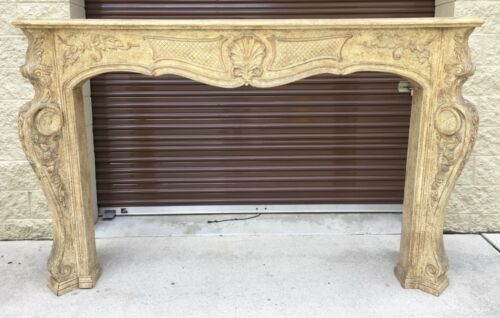 STUNNING GENUINE WOOD VERY LARGE FIREPLACE MANTLE FRAME LOCAL PICK UP ONLY!!!!!!