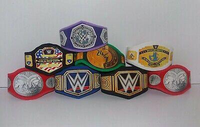 8 x  WWE Custom Made Bundle Titles Belts For Jakks/Mattel Wrestling Figures WWF