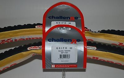 Challenge Grifo Pro Cyclocross Tubular 700 X 33 1 Pair  2 Tires
