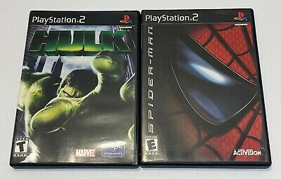 Hulk + Spiderman LOT (Sony PlayStation 2) PS2 GAME Both Complete CIB w/MANUAL