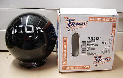 13 01oz Track 100p Black Sparkle Polyester Bowling Ball Undrilled