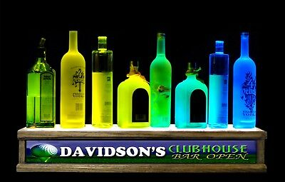 2 Foot Long Lighted Liquor Bottle Display Personalized Golf Club House