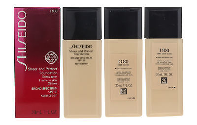 Shiseido Sheer and Perfect Foundation SPF18 1oz/30ml New Inbox Choose Your Shade ()
