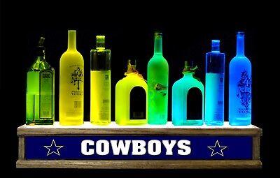 24 Lighted Liquor Bottle Display Multi Color Led Cowboys Bar Sign