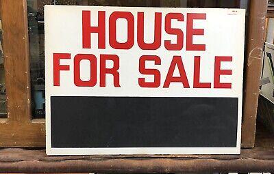 "Vintage House For Sale Masonite Advertising Chalkboard 18""X24"""