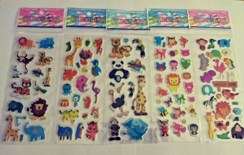 1 Sheets Fun Cartoon  Zoo Animals 3D Stickers Children Stocking Stuffers  Favors