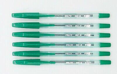 Pilot Bp-s 0.7mm Fine Ball Point Pen 6 Pcs Green C