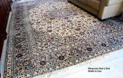 Extra large room size Persian carpet,  3x4 mts. hand made in Iran