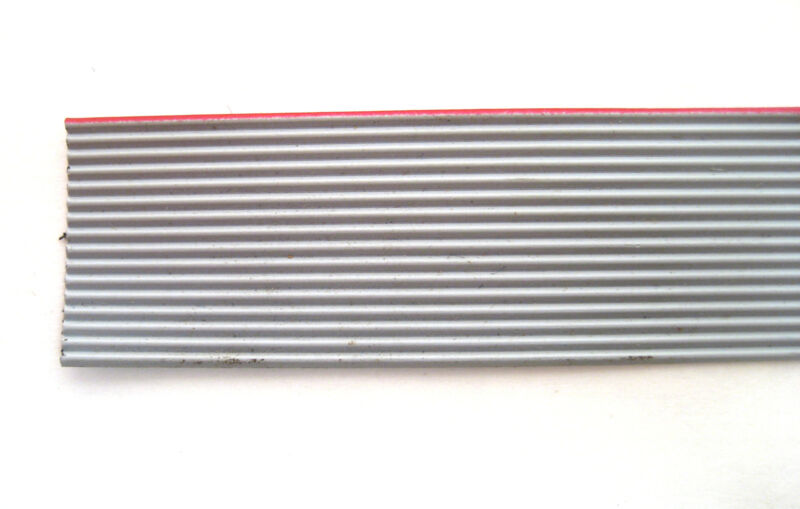 16 Conductor Gray Ribbon Cable: 5 Foot Piece