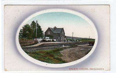 RAILWAY STATION, ABERCAIRNEY near CRIEFF: Perthshire postcard (C23431)