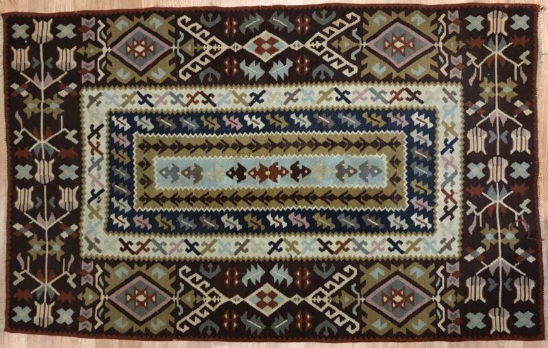Beautiful Bessarabian - 1900s Antique Flatweave Kilim - Tribal Rug - 3 X 5 Ft.