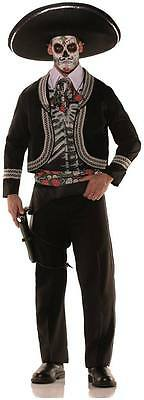 ADULT DAY OF THE DEAD SKELETON MARIACHI SPANISH MEXICAN HISPANIC MENS COSTUME  (Mariachi Costumes)