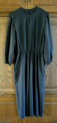 AMISH/ MENNONITE WOMEN'S DARK BLUE  2 PIECE  DRESS  HANDMADE 40 BUST 28-36 WAIST 2 Piece Blue Dress