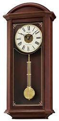 Seiko Analog Quartz Dark Brown Wooden  Chiming Wall Clock QXH065BLH