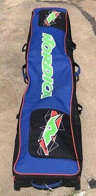 "NORDICA Travel Ski Bag w/ Rollers - Black/Blue/Green~~78"" ~~ EUC!!"