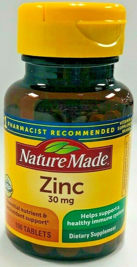 Nature Made Zinc 30 mg -100 Tablets -Expiration Date 08-2023