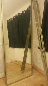 Sliding glass wardrobe doors x2