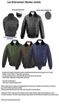 NEW Mens POLICE Sheriff Cop Security Corrections Bomber JACKET Fur Lined costume (Bomber Jacket Costume)