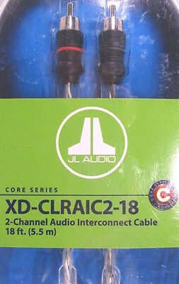 JL Audio XD-CLRAIC2-18 2-Channel RCA Cable 18ft (5.49 m) Audio Interconnect NEW (M Audio 18)