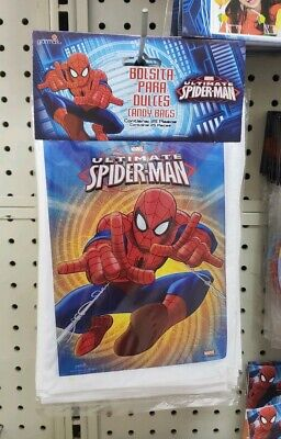 Spider Man Party Supplies (25 Marvel Ultimate Spider-Man Loot Bags Party Favor Bags Birthday Party)