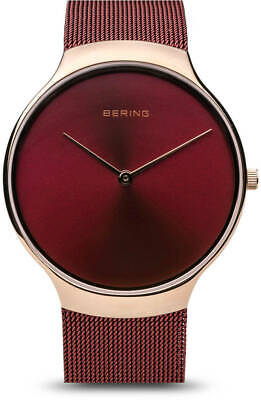 Bering Time Watch - Charity Ladies Polished Pink Case & Band 13338-Charity