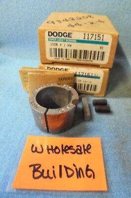 """DODGE 117151 TAPER-LOCK BUSHING 1008 X 1 KW, 1"""" BORE,1.39"""" OD, LOT OF 2"""
