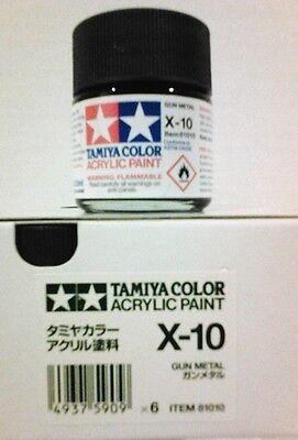 Tàmiya acrylic paint. X10 Gun metal, 23ml.