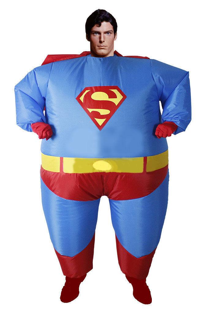 Halloween Airblown Inflatable Fat Superman Costumes Superhero Funny dress Adult  sc 1 st  eBay & Halloween Airblown Inflatable Fat Superman Costumes Superhero Funny ...