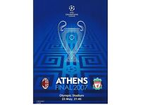 2007 Champions League Cup Final programme Liverpool vs AC Milan