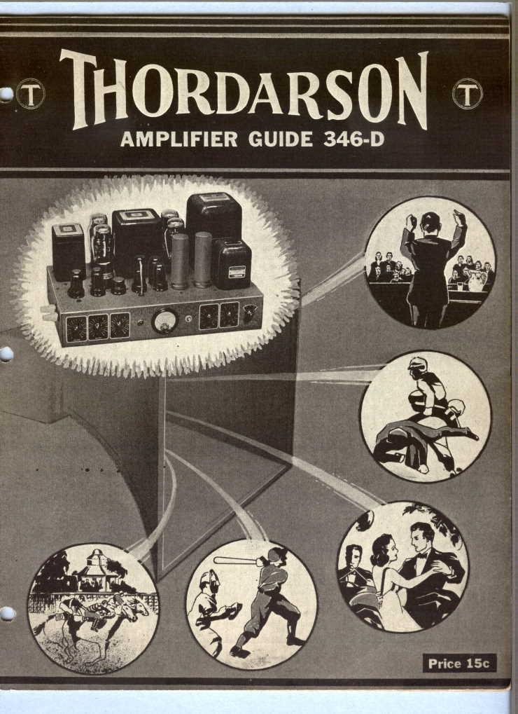 1938 Thordarson Amplifier Guide 346-D - 31 Pages - Original Document