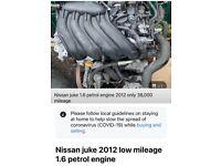 Nissan juke 1.6 engine low miles 36k petrol