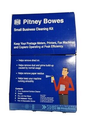 Pitney Bowes Small Business Cleaning Kit Inkleens Wipe Postage Meters