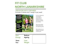 Fitness classes in wishaw and newmains just £1