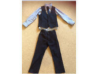 Navy suit 5/6yrs Next