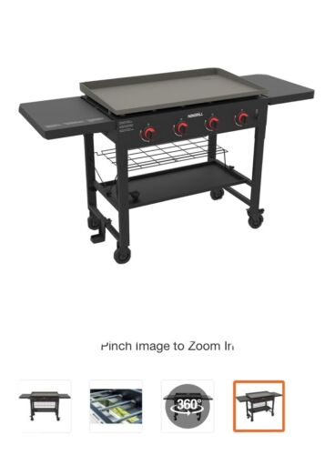 Nexgrill 4-Burner Propane Gas Grill in Black with Griddle To