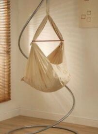 Baby Hammock, crib- Natures Sway- with standard stand and spiral Oberon frame