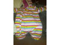 Trespass all in one snow winter suit 12 to 18 months with Free cosey toes for buggy